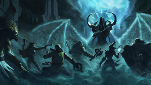Barbarian Diablo Iii Crusader Diablo Iii Demon Hunter Diablo Iii Diablo Iii Reaper Of Souls Malthael 4040x2293 Wallpaper