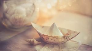Origami Paper Boat 2048x1300 wallpaper