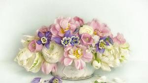 Flower Pink Flower Ranuncula White Flower 1920x1280 Wallpaper