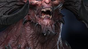 Fan Art Video Games PC Gaming Diablo CGi Demon Creature Video Game Art Horns Digital Art 1728x2159 Wallpaper