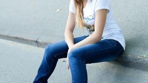 Women Outdoors Brunette T Shirt 853x1280 Wallpaper