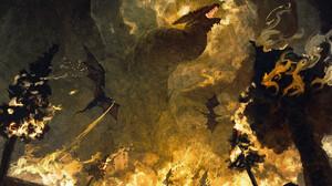 Anato Finnstark Artwork ArtStation Fantasy Art Dragon Creature Fire Burning 1920x1440 Wallpaper