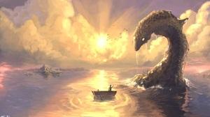 Fantasy Sea Monster 2000x1200 Wallpaper