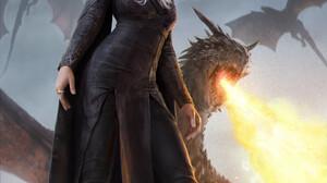 TV Series Game Of Thrones Daenerys Targaryen Dragon Creature Fire Fantasy Art Fantasy Girl Women Loo 1000x1415 Wallpaper