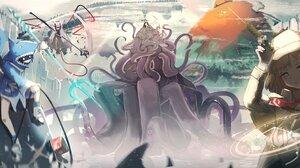 Gawr Gura Mori Calliope Ninomae Ina 039 Nis Takanashi Kiara Watson Amelia 3296x1592 Wallpaper