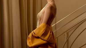 Anya Taylor Joy Women Actress Blonde Yellow Dress Women Indoors Makeup 1620x2160 Wallpaper