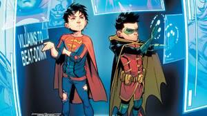 Superboy Jon Kent Boy Damian Wayne Robin Dc Comics Dc Comics 1920x1080 Wallpaper
