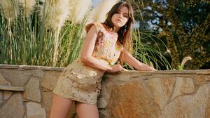 American Brunette Dress Selena Gomez Singer 3840x2160 Wallpaper