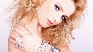 Blonde Blue Eyes Bracelet Curl Face Girl Hair Hand Makeup Ring 1920x1080 Wallpaper