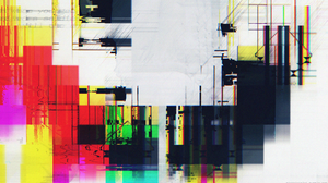 Glitch Art Abstract White 1920x1080 Wallpaper