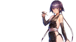 Anime Anime Girls Simple Background Bleach Sui Feng Bare Shoulders Wafuku Deluxe Artist Purple Hair  2560x1440 Wallpaper