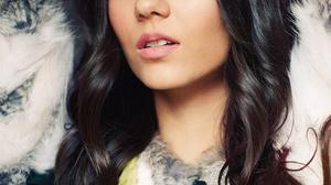 Victoria Justice Women Actress Singer Long Hair Brunette Latinas Face Fur Closeup 1309x1600 Wallpaper