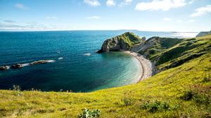 Beach Cliff Coastline Durdle Door Horizon Sea Sky 5120x2880 Wallpaper