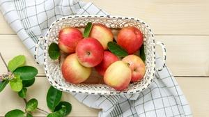 Apple Basket Fruit Still Life 4674x3116 Wallpaper
