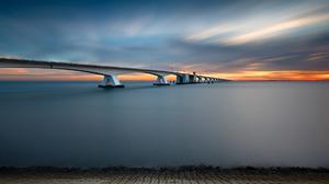 Netherlands Zeeland Bridge 1920x1200 wallpaper