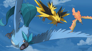Articuno Pokemon Moltres Pokemon Pokemon Zapdos Pokemon 3585x1672 Wallpaper