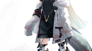 Anime Anime Girls Arknights Reed Arknights Horns Ka11 CA Tail Silver Hair Blue Eyes 2056x3538 Wallpaper