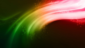 Stars Red Green Abstract Colors Artistic Wave 1920x1200 Wallpaper