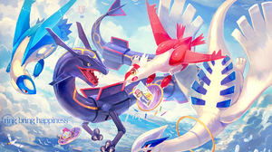 Hoopa Pokemon Latias Pokemon Latios Pokemon Lugia Pokemon Rayquaza Pokemon Wingull Pokemon 1920x1376 Wallpaper