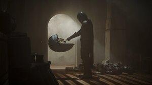 Watson Amelia The Mandalorian The Mandalorian Character Baby Yoda Chibi Hololive 3840x1607 Wallpaper
