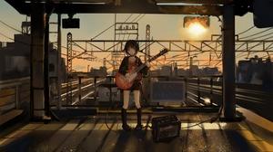 Anime Girls Anime Guitar 3840x2160 Wallpaper