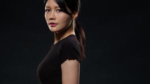 Asian Women Model Long Hair Brunette Black Shirt Ponytail Jane Chen 3840x3149 Wallpaper
