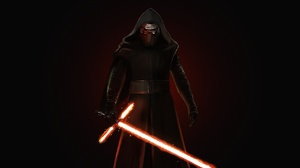 Lightsaber Star Wars Star Wars Villains Kylo Ren Artwork Science Fiction Simple Background 1920x960 Wallpaper