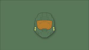 Halo CE Halo 5 Guardians Master Chief Minimalism Video Games Helmet 1920x1080 Wallpaper