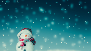 Christmas Scarf Snowman Winter 1920x1536 Wallpaper