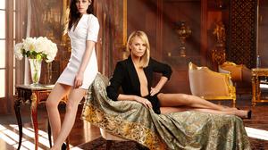 Charlize Theron Kristen Stewart 5000x3333 wallpaper