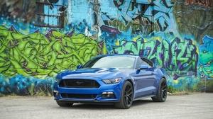 Blue Car Car Ford Ford Mustang Graffiti Muscle Car Vehicle 2048x1366 Wallpaper