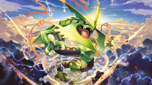 Legendary Pokemon Mega Rayquaza Pokemon Pokemon 1920x1080 wallpaper