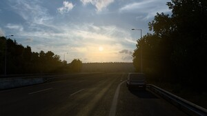 Sunrise Highway Euro Truck Simulator 2 2560x1440 Wallpaper