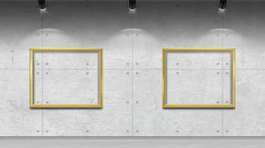 Art Gallery Texture Picture Frames Ceiling Lights Concrete 4000x3000 Wallpaper