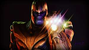 Thanos Avengers Infinity War Infinity Gauntlet Armor Marvel Comics 3840x2160 Wallpaper