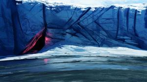 Dark Aurora Borealis Water Ice Artistic Brush 1920x1080 Wallpaper