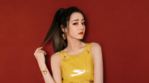 Actress Black Hair Chinese Earrings Lipstick 1920x1080 Wallpaper