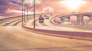 Photo Manipulation Digital Art Freeway City Effects Artwork Photoshop 1280x892 Wallpaper
