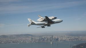 Aerial Airplane Bay Bridge Bridge Nasa Ocean San Francisco Shuttle Space Shuttle 2048x1365 Wallpaper