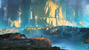 Artwork Digital Art Nature Horse Mountains 1920x1080 Wallpaper