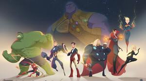 Avengers Black Widow Captain America Captain Marvel Doctor Strange Hulk Iron Man Marvel Comics Spide 1920x1150 Wallpaper