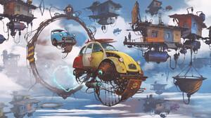 Science Fiction Digital Art Futuristic Citroen Portal Alejandro Burdisio 1920x1128 Wallpaper