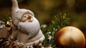 Bauble Christmas Santa 5430x3620 Wallpaper