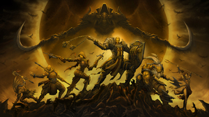 Barbarian Diablo Iii Crusader Diablo Iii Demon Hunter Diablo Iii Diablo Iii Reaper Of Souls Malthael 6400x3600 Wallpaper