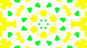 Abstract Colorful Digital Art Geometry Green Shapes Yellow 1920x1080 Wallpaper