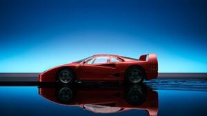 Ferrari Ferrari F40 Reflection 1920x1200 Wallpaper