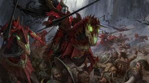 Thomas Elliott Artwork Knight Battle Horse Fantasy Art Men Lance Armored Fantasy Armor Glowing Eyes  1920x1391 Wallpaper