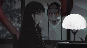 Anime Anime Girls Aoi Ogata Original Characters Black Hair Closed Eyes 1650x1046 Wallpaper
