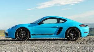 Blue Car Car Coupe Fastback Porsche 718 Cayman T Sport Car Supercar 1920x1080 Wallpaper