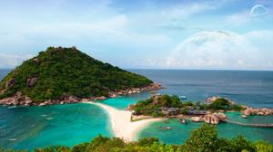 Earth Forest Island Ko Tao Ocean Sea Thailand Tree Turquoise 1920x1200 wallpaper